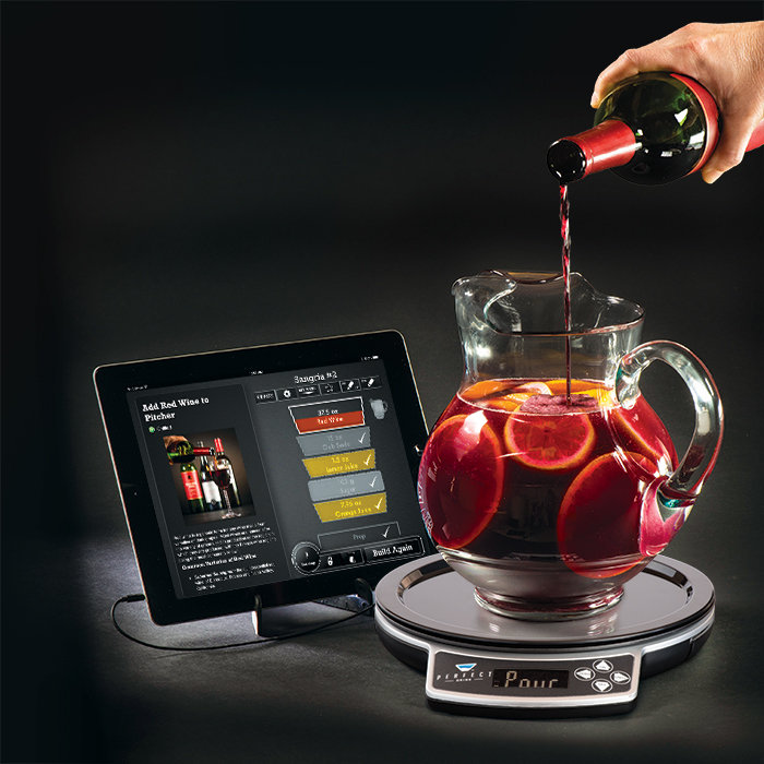 Perfect drink app controlled smart bartending makes the for Perfect drink pro smart scale