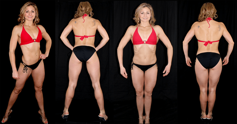 bikini and figure front and back week 9