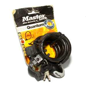 Masterlock Street Quantum Cable Lock 10mm x 1.8m Self Coiling 8236DPRO