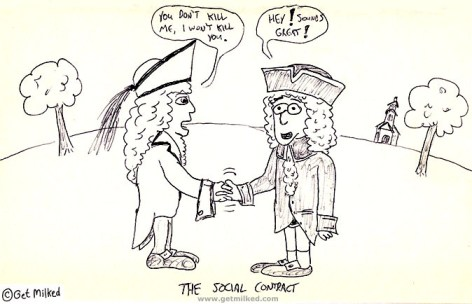 Cartoon I wont kill you social contract