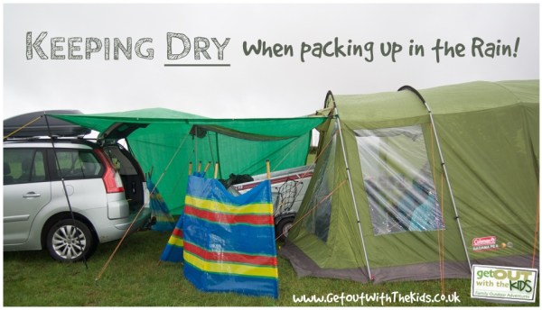Keeping dry when packing up camp