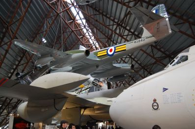 The Cold War hanger is very impressive. Some of the biggest jet aircraft of the era suspended above your head.