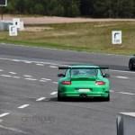 Porsches on track