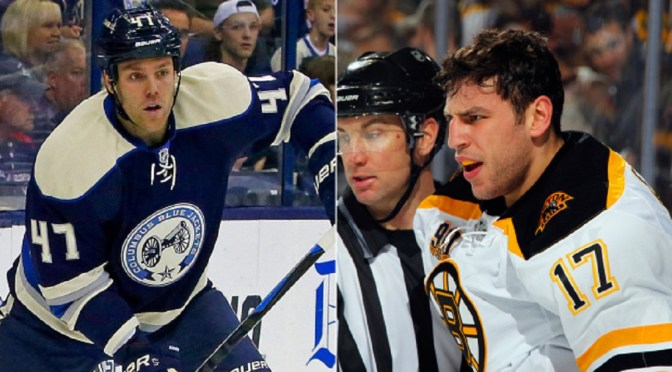 Milan Lucic and Dalton Prout