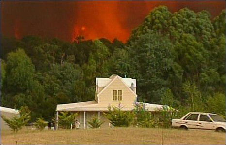 South Australia heat wave and Victorian bush fires