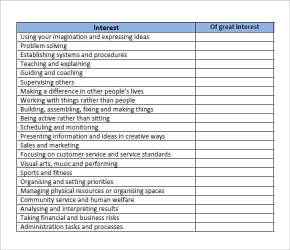 employability skills assessment questionnaire pdf