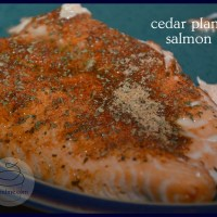 bbq cedar plank salmon - you won't believe how easy this is!