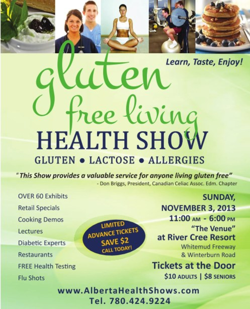 gluten free living health show in Edmonton