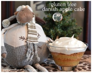 gluten free danish apple cake