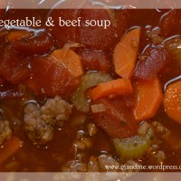 warm up with gluten free beef & vegetable soup