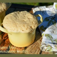 gluten free microwave muffin - makes a simple, delicious breakfast