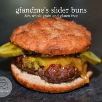crispy on the outside, soft in the centre: gluten free slider buns