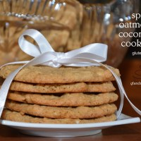 coconut oatmeal cookies - gluten free and spicy