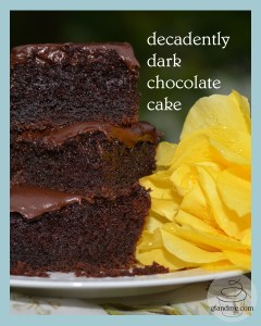 gluten free decadently dark chocolate cake