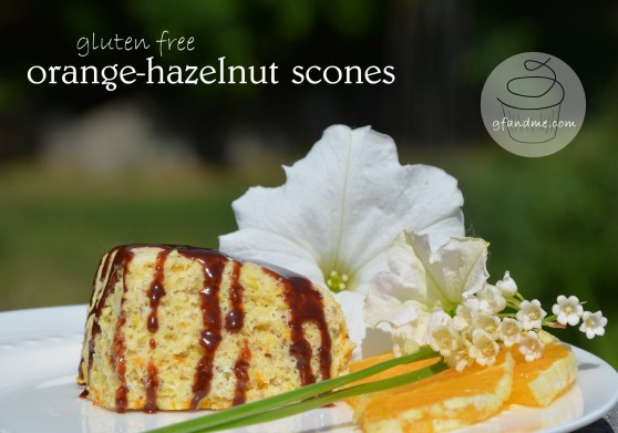 orange hazelnut gluten free scones