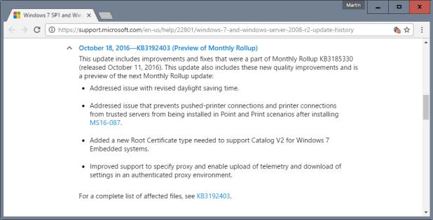security bugs fixes windows