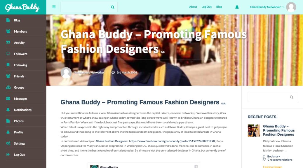 Ghana Buddy Ghana Social Network