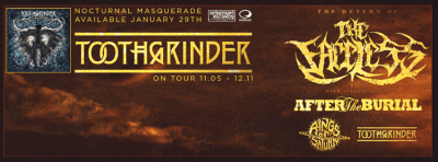 toothgrinder after the burial rings of saturn the faceless tour