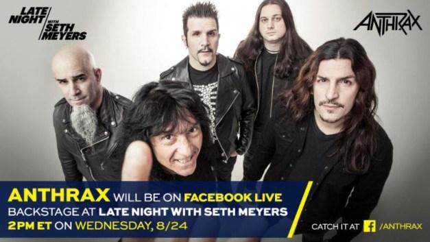 Anthrax Seth myers backstage ghostcultmag