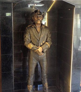 Lemmy Statue at The Rainbow Bar and Grill