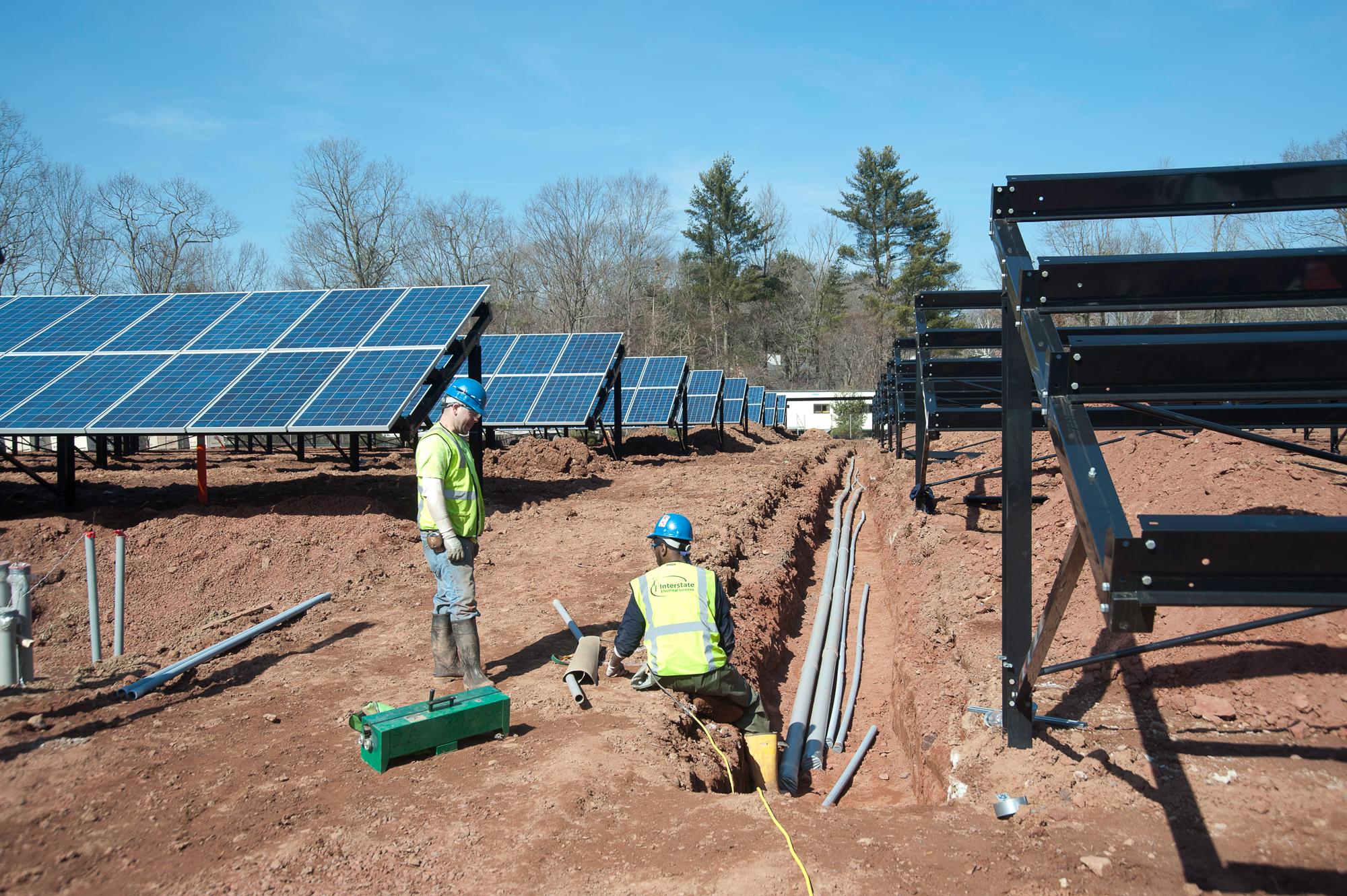 Solar Panel installation photograph