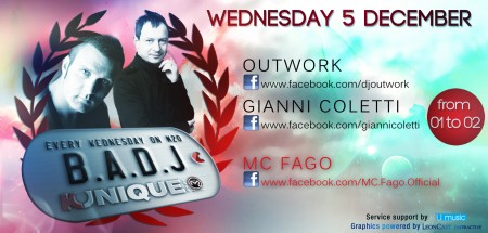 "Kunique ""B.A.DJ"" Radio Show On Radio M2O Guest ""Gianni Coletti"" November, 5th 2012"