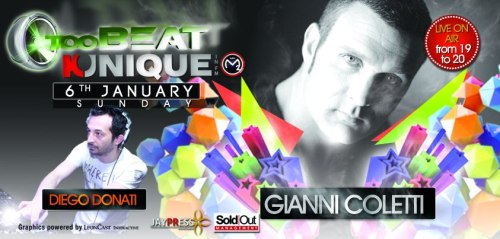 "Kunique Too Beat Radio Show on Radio M20 Guest ""Gianni Coletti"" January 06th 2013"