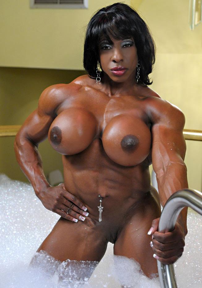muscular black women