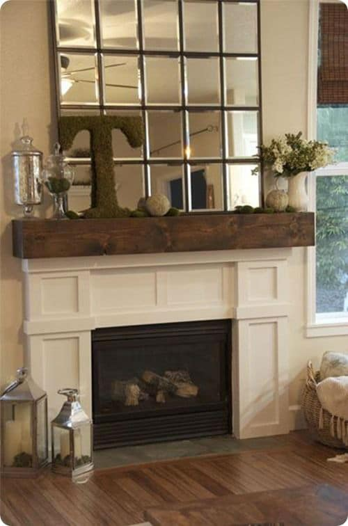 How to build barn wood mantel