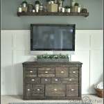 Gorgeous Pottery Barn Style IKEA Media Shelf Makeover