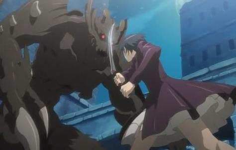 Hello monster! Meet schoolgirl with sword.