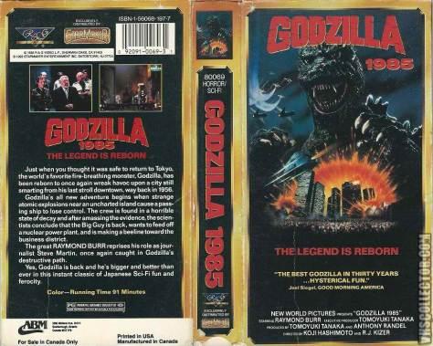 VHS - Godzilla 1985