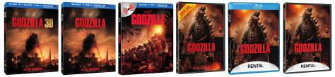 The many editions of 'Godzilla' (2014) on Blu-Ray and DVD. (Image courtesy of www.SciFiJapan.com).