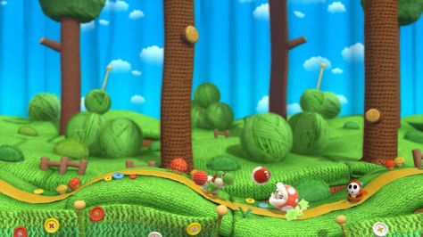 Yoshi's adventure through handcrafted levels is wonderful.