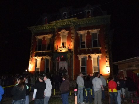 Hundreds of people stand in line to visit the Haunted Jail in 2012. Photo by Nathan Marchand.