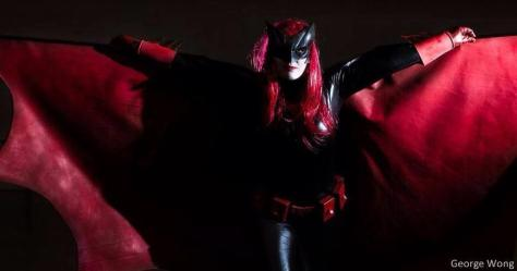 Kane cosplaying as Batwoman. Picture by George Wong