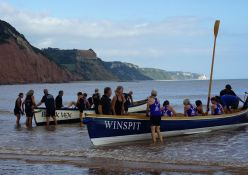 boats-being-launched-at-sidmouth