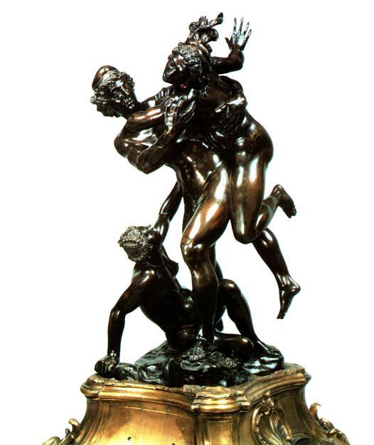 Groupe en bronze signé Susini, daté 1627.
