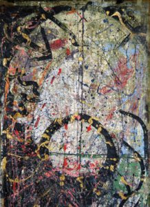 dripping d'après Jackson Pollock