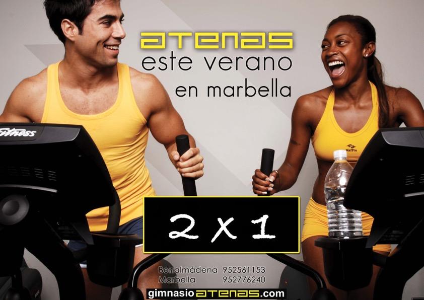 Promoción 2×1 en Gimnasio Atenas Marbella