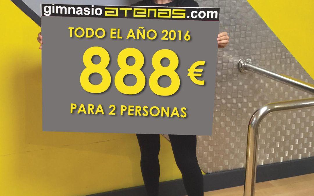 Consigue todo el año 2016 a 888€ para dos personas en Gimnasio Atenas