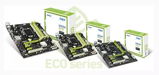 Cartes mère Eco Series de MSI