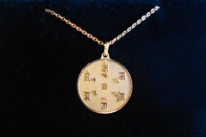 ゴールド梵字ネックレス