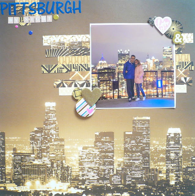 Giorgia Rossini - Scrapbooking layout Pittsburgh by night