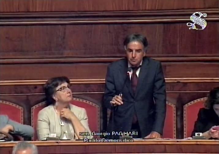 Giorgio Pagliari in Senato