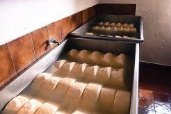 Frischer Käse in Lauge