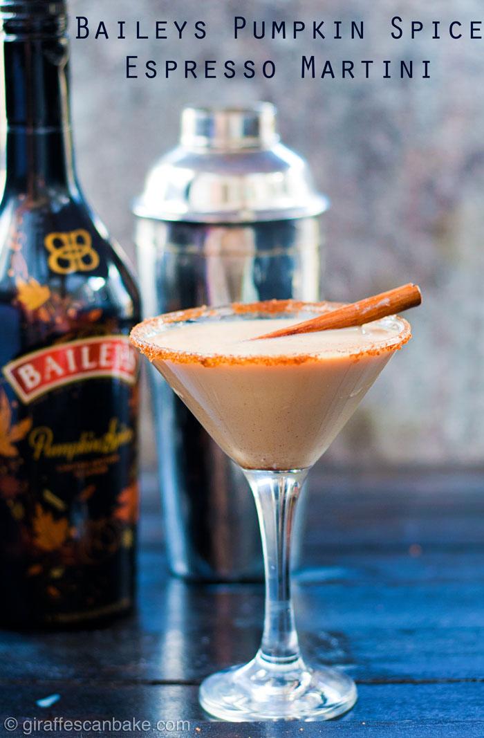 Baileys Pumpkin Spice Espresso Martini Cocktail