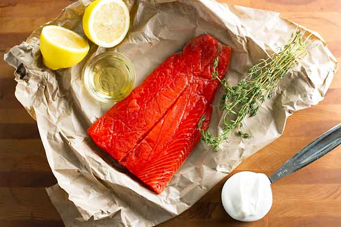 Grilled Salmon with Thyme Cream Sauce | Girl Gone Gourmet