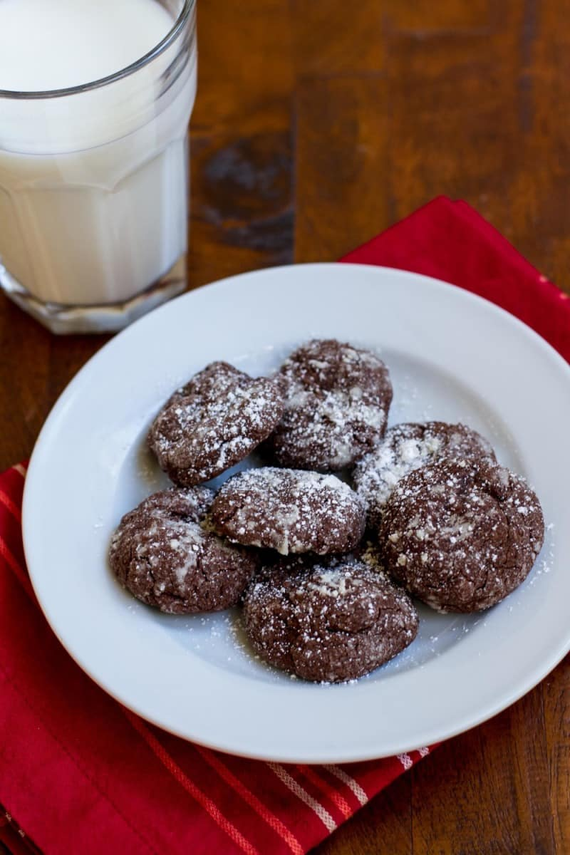 ... chocolate crackle cookies, but they're hiding a little secret