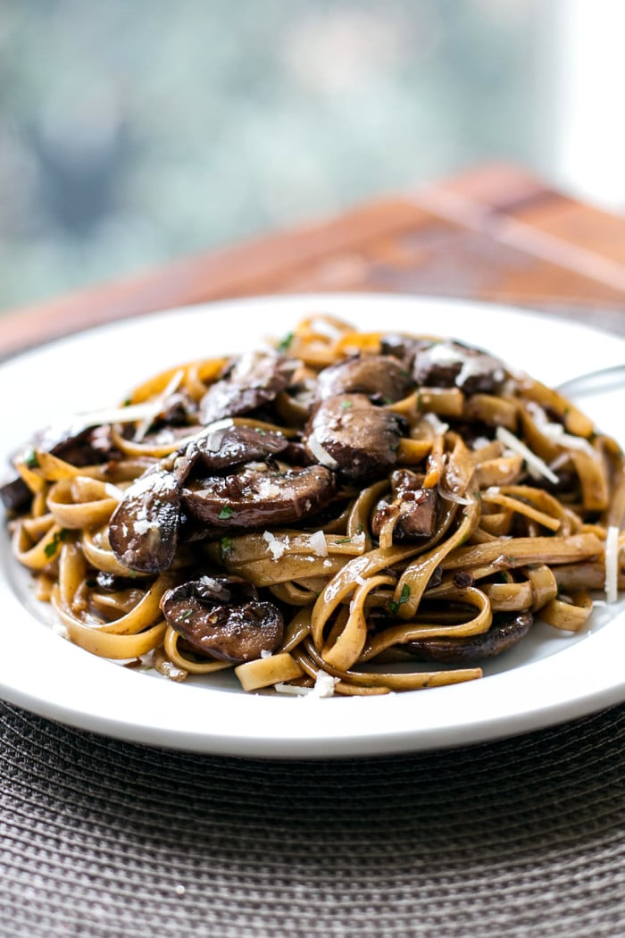 Balsamic Mushroom Pasta